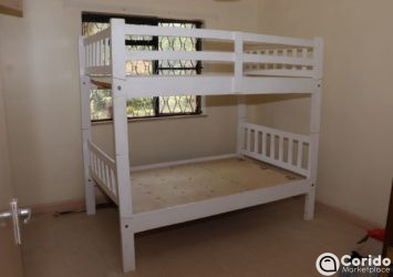 4 x 6 White Bunk Bed