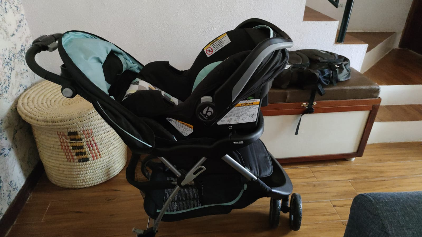 Baby car seat and stroller in one